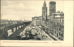 Overhead Electric Railway & St. Nicholas Church