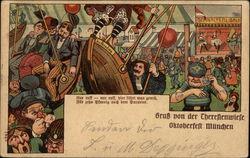 Gruss von der Thereseinwiese Oktoberfest Munchen