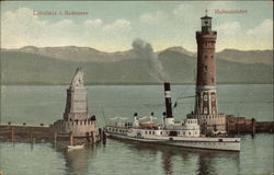 Lighthouse and Harbor Entrance, Lake Constance