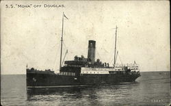 S.S. Mona off Coast, Isle of Man