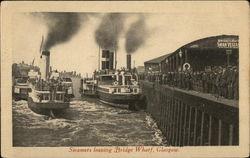 Steamers leaving Bridge Wharf