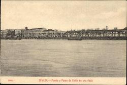 Puerto y Paseo de Colon en una Riada