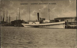 "Steamer ""Norderney"" in Harbor"