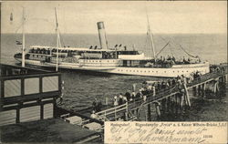 "Steamer ""Freja"" at Kaiser Wilhelm Bridge"