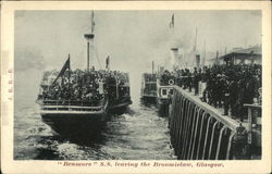 "S.S. ""Benmore"" Leaving the Broomielaw"