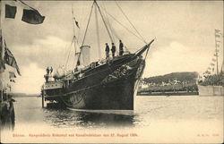 Kongeskibets Ankomst ved Kanalindvielsen den 25, August 1904