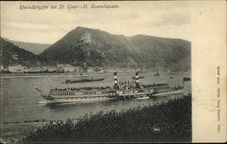 Rheindampfer bei St. Goar - St. Goarshausen