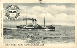 """S. S. """"Brodick Castle"""" off Christchurch Head"""