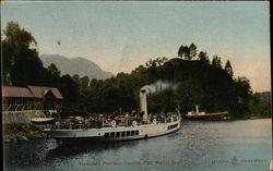 """Trossachs Pier and Steamer """"Sir Walter Scott"""""""
