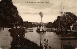 S. S. Linnet on the Crinan Canal