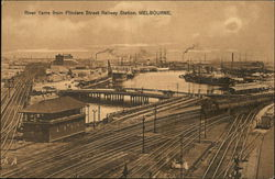 River Yarra from Flinders Street Railway Station