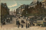 La Rue Royale prise vers la Place de la Concorde